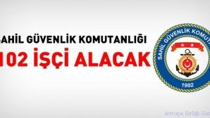 Sahil Güvenlik Komutanlığı 102 işçi alacak
