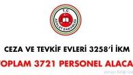 Ceza ve Tevkifevleri 3 bin 721 sözleşmeli personel alacak