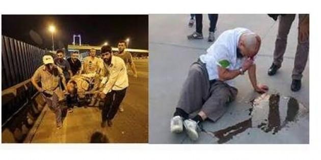İstanbul Büyük şehir belediyesinden 15 Temmuzdarbe girişimine karşı çıkan kahramana dayak