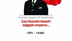 """10 Kasım Atatürk """" ün Aramızdan ayrılışının 78.yıl dönümü"""