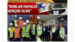 Avrasya Tüneli'nde test sürüşü yapan Cumhurbaşkanı Erdoğan'dan Kanal İstanbul müjdesi