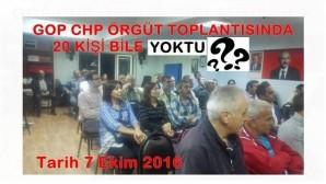 GOP CHP ÖRGÜT TOPLANTISINDA 20 KİŞİ BİLE YOKTU
