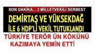 Selahattin Demirtaş ve Yüksekdağ ile 6 HDP'li vekil tutuklandı TÜRKİYE TERÖR ÜN KÖKÜNÜ KAZIMAYA YEMİN ETTİ