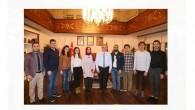 Başkan Aydın'a Makedonyalı Öğrenciler Birliğinden Ziyaret