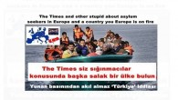 The Times and other stupid about asylum seekers in Europe and a country you Europe is on fire