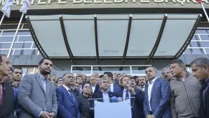 Kentsel Bilgilendirme ofisine yapılan saldırı protesto edildi