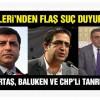 İçişleri'nden Demirtaş, Baluken ve CHP'li Tanrıkulu için suç duyurusu
