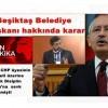 Beşiktaş Belediye Başkanı hakkında karar