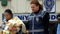 20 günlük bebeğiyle gözaltında