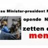 Nederlandse Minister-president Mark Rutte opende Nederland zetten domme mensen