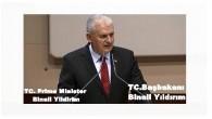 Premier Binali Yildirim uit Turkije verblijf uit de aangelegenheden van de!