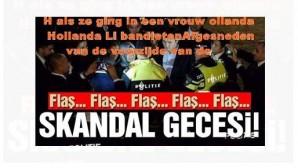 Nederland als ze ging in een vrouw gesneden bestrating bandieten vroege Nederland