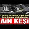 Erdoğan'ın oteline F-16'larla keşif