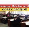 Gaziosmanpaşa Belediye meclisinde görev değişimi