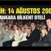 14 Ağustos 2001′ de ak partiyi kurdu ve  dava  arkadaşları