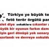 Türkiye ye büyük tezgah fetö terör örgütü parmağı
