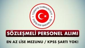 Dışişleri Bakanlığı Sözleşmeli Sekreter Alımı 2017