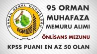 Orman Genel Müdürlüğü 95 Orman Muhafaza Memuru Alımı 2017