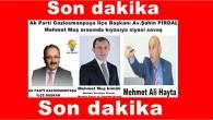 Ak Parti Gaziosmanpaşaİlçe Başkanı Av.ŞahinPİRDAL Mehmet Muş arasında kıyasıya siyasi savaş