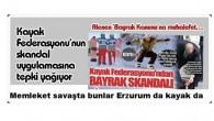 Memleket savaşta bunlar Erzurum da kayak da