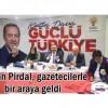 İlçe Başkanı Şahin Pirdal, gazetecilerle bir araya geldi