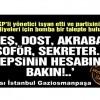 AKP'li yönetici: Mızrak artık çuvala sığmıyor, hepsinin hesabına bakın