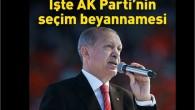Cumhurbaşkanı Erdoğan seçim beyannamesini açıkladı