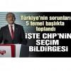 Kılıçdaroğlu CHP'nin seçim bildirgesini açıkladı