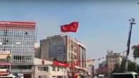 Gaziosmanpaşa ak parti ile Saadet Partisi' arasında afiş bayrağı kavgası