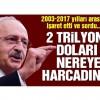 Kılıçdaroğlu: 2 trilyon doları nereye harcadın?