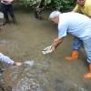 Akçay Deresini Nesli Tükenmekte Olan 750 kırmızı Benekli balık Salındı.