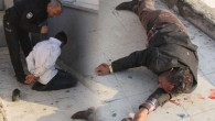 Dolmuş şoförü ile babası trafik polisine saldırdı