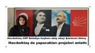 Hacıbektaş CHP Belediye başkanı aday adayı Şaziment Akkuş Hacıbektaş da yapacakları projeleri anlattı