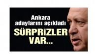 Erdoğan AKP'nin Ankara'da ilçe belediye başkan adaylarını açıkladı