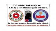 T.C adalet bakanlığı ve T.C.İçişleri Bakanlığına ihbardır.
