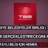 Türkiye Belediyeler Birliği 11 işçi alımı yapıyor