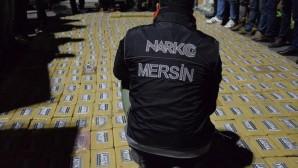 Mersin'de 615 kilogram kokain ele geçirildi