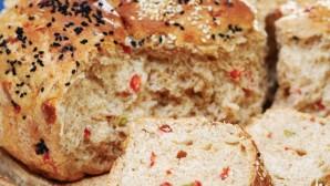Tam Buğday Unlu Biberli Peynirli Ekmek