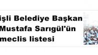 DSP Şişli Belediye Başkan adayı Mustafa Sarıgül'ün meclis listesi