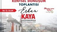 CHP gaziosmanpaşa belediye başkan adayı erkan kaya kentsel dönüşüm mağdurları buluştu