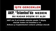 AKP İSTANBUL DA NEDEN BU KADAR DÜŞÜK OY ALDI İŞTE GERÇEKLER.