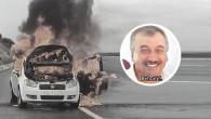 Arnavutköy'de bir otomobil içerisindeki şahısla birlikte yakıldı