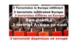 3 Terroristen in Europa infiltriert
