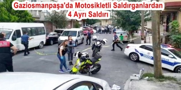 Motosikletli ve silahlı 2 saldırganın arkasından dram cıktı