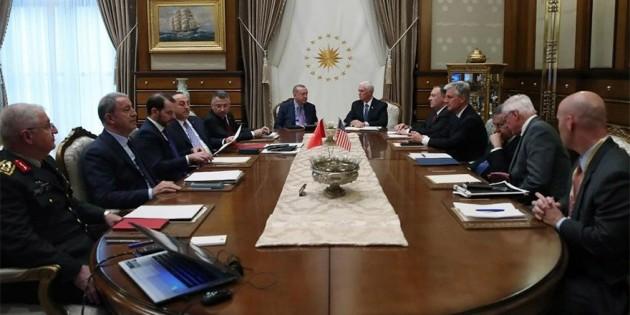 Erdoğan – Mike Pence görüşmesi 1 saat 40 dakika sürdü