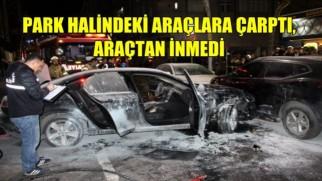 Sultangazi'de park halindeki araçlara çarpan sürücüyü mahallelinin elinden polis kurtardı