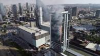 Ankara'da korkutan yangın! 30 katlı Via Tower cayır cayır yandı