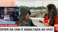 CNN muhabirinin telefonu canlı yayında gasp edildi