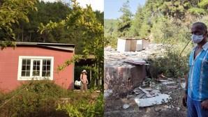 Hırsızlar evi çaldı, geriye sadece temel kaldı