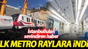 Gayrettepe-İstanbul Havalimanı Metrosu'nda ilk tren raylara indi